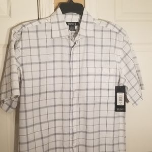 Bruno mens S/S button down size M NWT.